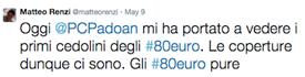 tweet 80 euro di Renzi