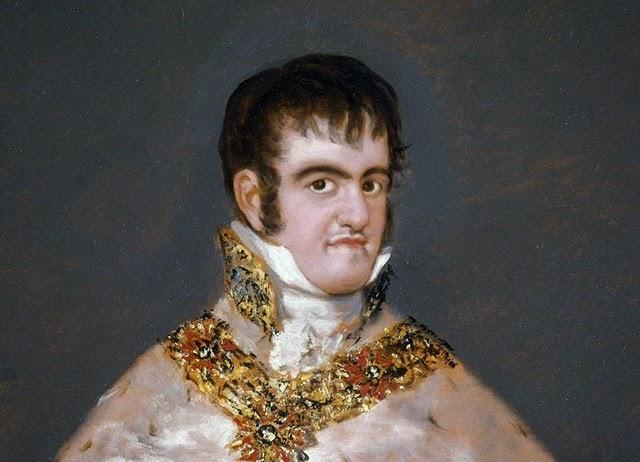 FRANCISCO DE GOYA. Fernando VII con manto real. (h. 1815) 206 x 145 cm