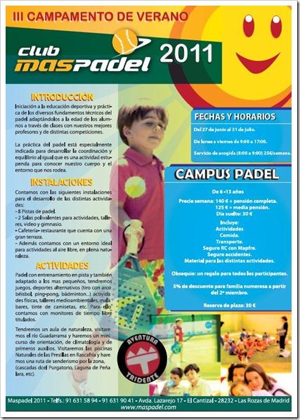 CAMPAMENTO DE VERANO MASPADE LAS ROZAS MADRID 2011