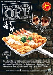 The Manhattan Fish Market 10th Anniversary Promotion Branded Shopping Save Money EverydayOnSales