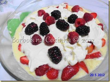 creme englaise com frutas vermelhas e chantilly diet