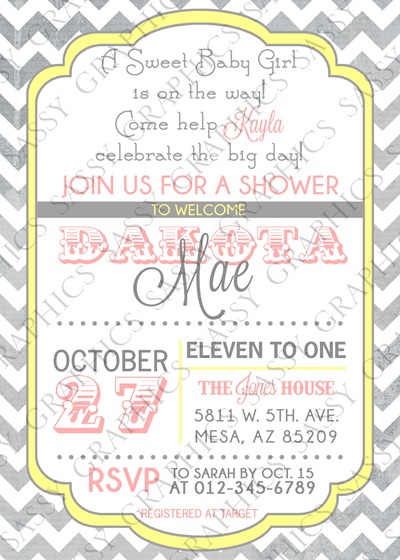 Baby Girl Baby Shower Invitation-5