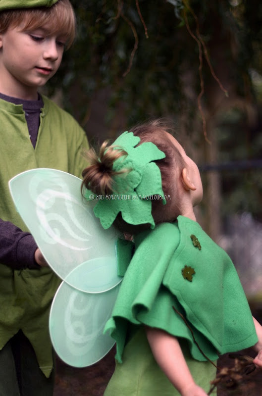 DIY Peter Pan   Tinkerbelle Costume 089