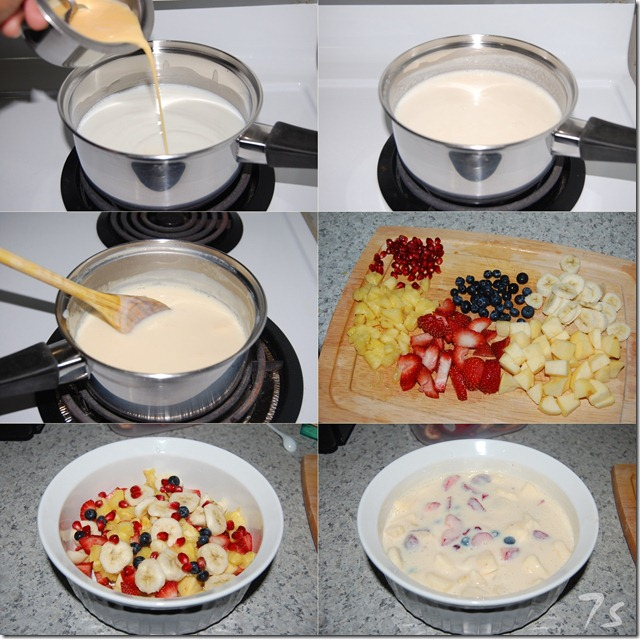 Fruit custard process