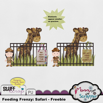 Mommy Me Time Scrapper - Feeding Frenzy Collab - Freebie Preview