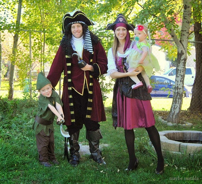 Maybe Matilda: Peter Pan Family Halloween Costumes