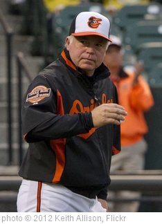 'Buck Showalter' photo (c) 2012, Keith Allison - license: http://creativecommons.org/licenses/by-sa/2.0/