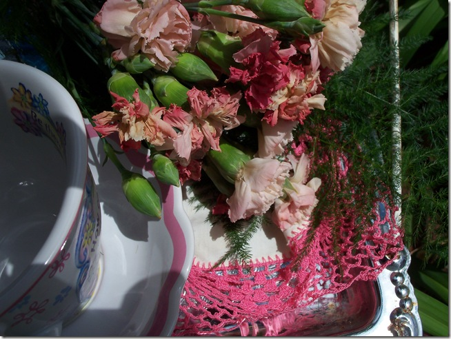 Carnation tea tray 018