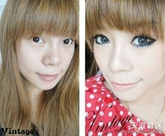 chinese girls makeup before and after  (21)