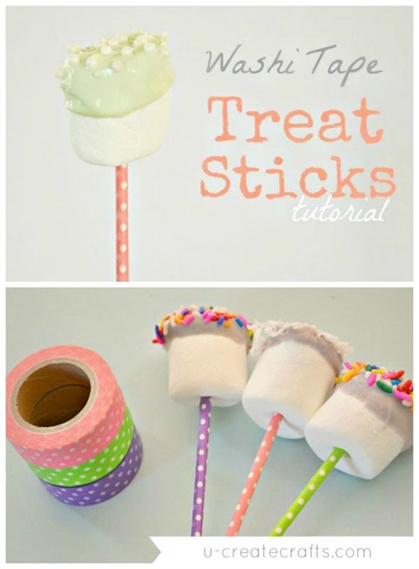 Washi Tape Treat Sticks Tutorial - so simple!