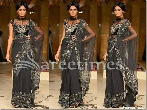 Rohit_Bal_Black_Saree