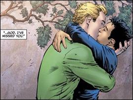 """Reprodução da HQ """"Earth 2"""", em que o Lanterna Verde reaparece como gay (AP)"""