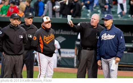 'Buck Showalter, Bud Black' photo (c) 2013, Keith Allison - license: http://creativecommons.org/licenses/by-sa/2.0/