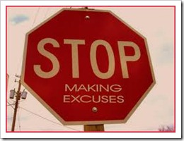 excuses making art