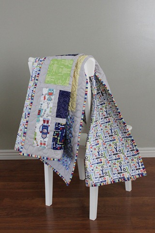 Jack's Blocks crib size quilt