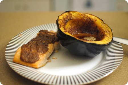 salmon & acorn squash