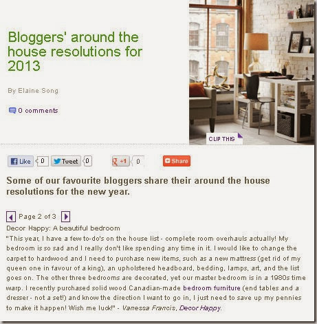 Style at Home  Blogger's 2013 Resolutions