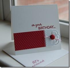 Happy Birthday 3 X 3 Card
