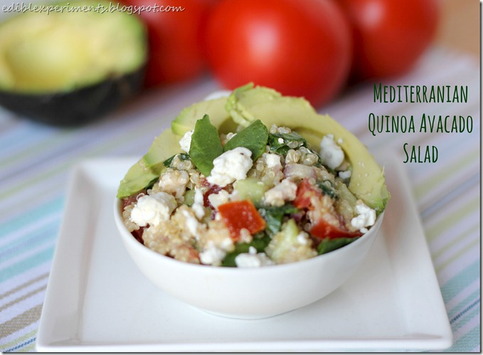 Mediterranian Quinoa Avacado Salad