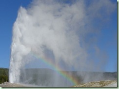 Day13Yellowstone Old Faithful with rainbow