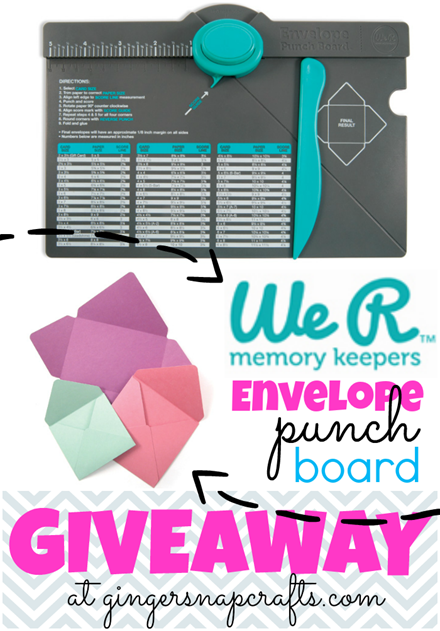 We R Memory Keepers Envelope Punch Board Giveaway @ GingerSnapCrafts.com