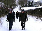 We have yet to cancel a walk due to bad weather but we might shorten it. People on the group mailing list will have the  mobile phone number of the leader to check.