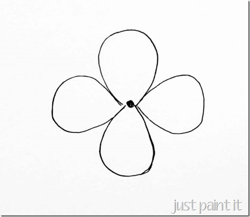 how to draw a petal flower