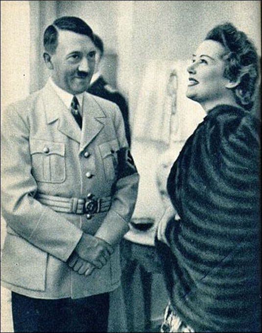 Adolf Hitler charms Elegant German Woman