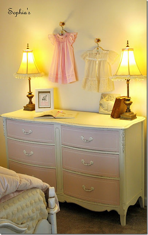 Dresser from back wall