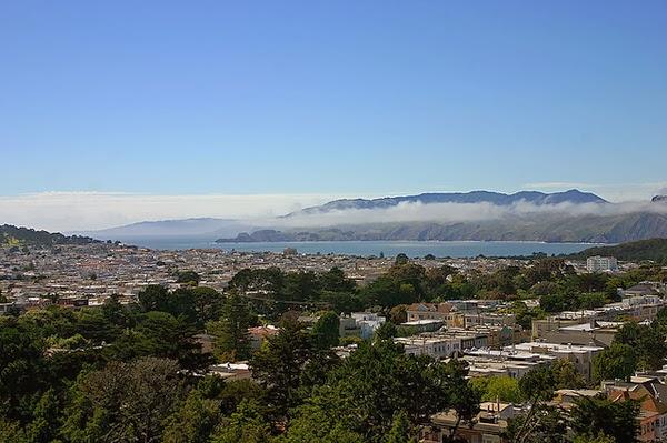 從De Young Museum 鳥瞰舊金山灣區
