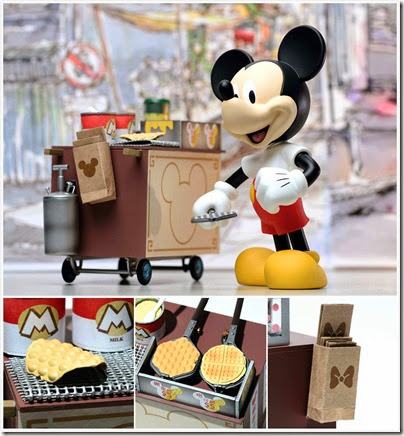 Mickey selling Hong Kong Waffle