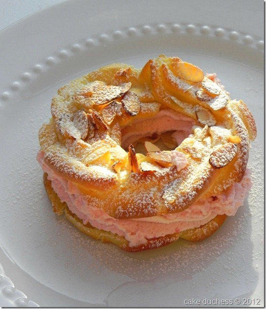 paris brest with raspberry whipped cream filling savoring italy. Black Bedroom Furniture Sets. Home Design Ideas
