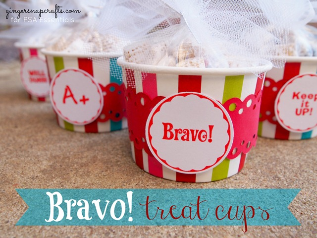 bravo treat cups with PSA Essentials