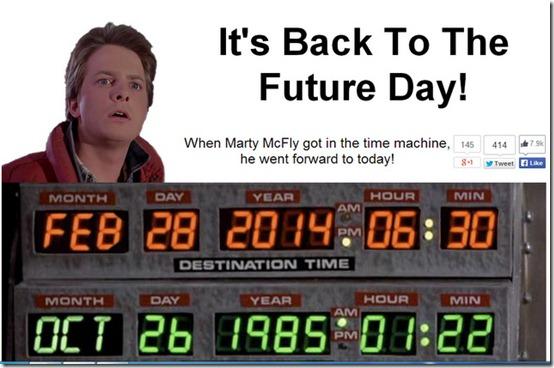 Hoy es el día de volver al futuro