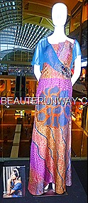 Alleira Internaional batik dress Marina Bay Sands Singapore