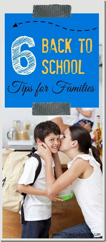 6 back to school tips for families - Lots of great parenting tips here! I think I need to work especially on #6