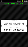 Screenshot of GPS Position