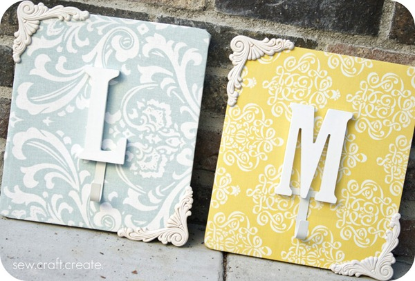 Monogram Wall Hangers Tutorial