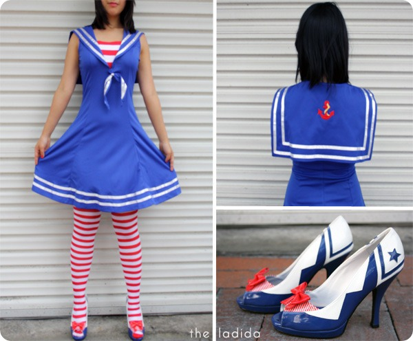 Smiffys Australia Sailor Cutie Costume - Thigh High - Fever Sailor Shoes