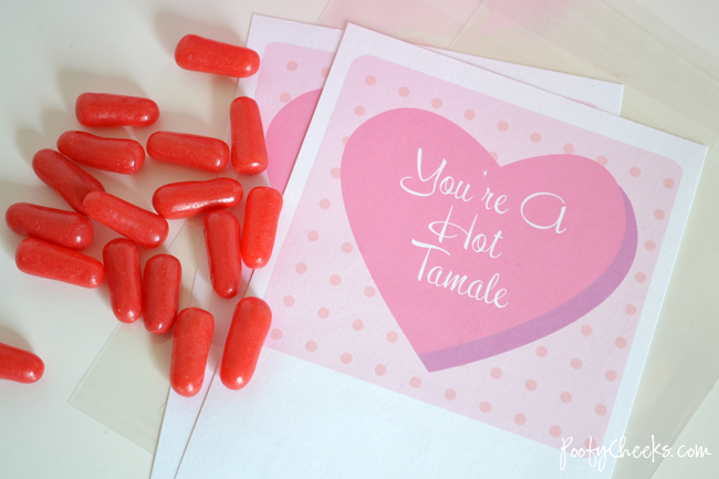 Hot Tamale Valentine's Day Printable Cards
