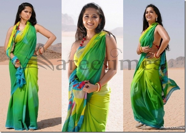 Anushka_Green_Saree