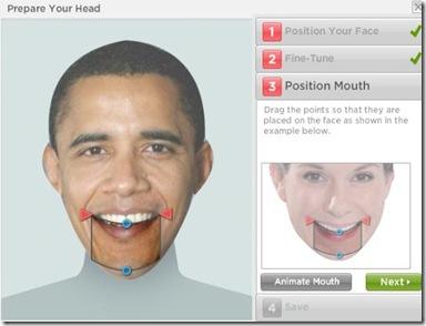 Gagnam Style personalizzato indicare contorno bocca