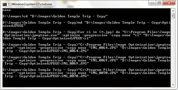 command prompt compression