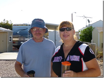 Saying goodbye to NoPo and LoPo aka Norm & Lori Post @ Sunscape RV Resort, Casa Grande, AZ.