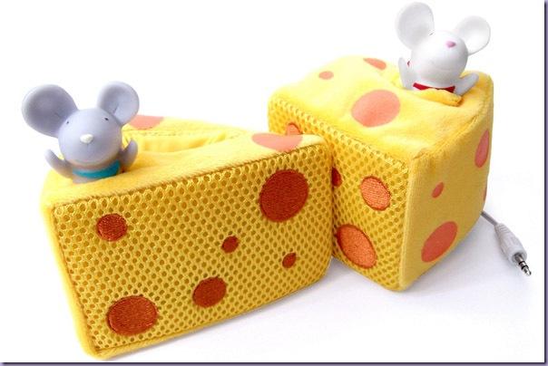 Caixinhas-de-Som-Pedaço-de-Queijo-Ratinhos