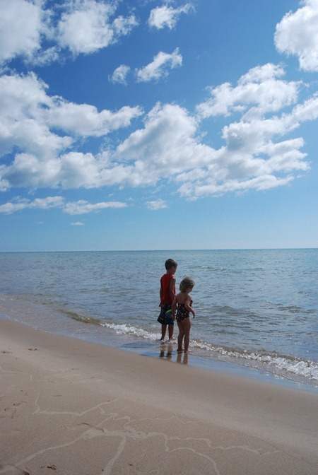 H&H on the shore of Lake Huron
