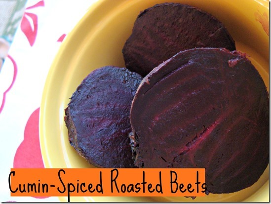 cumin-spiced roasted beets