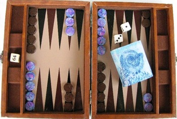 2011 08 LRoberts Steampunk Treasures Backgammon game open