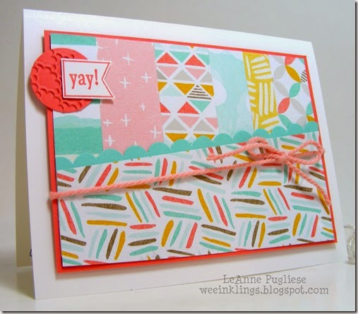 LeAnne Pugliese WeeInklings Stampin Up You Brighten My Day SAB