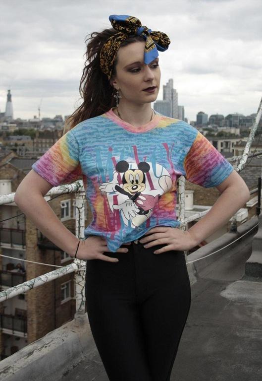 Vintage Mickey Mouse Tie Dye Cropped T-shirt, £24, Sam Greenberg Vintage